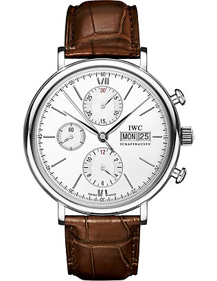 IWC SCHAFFHAUSEN: Portofino Chronograph stainless-steel and satin watch