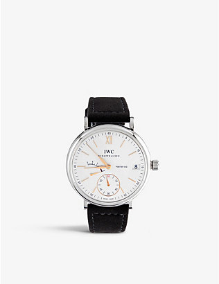 IWC SCHAFFHAUSEN: IW510103 portofino leather watch