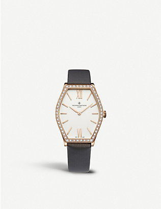 VACHERON CONSTANTIN: 25530/000R-9742 Traditionnelle 18ct rose-gold and diamond watch