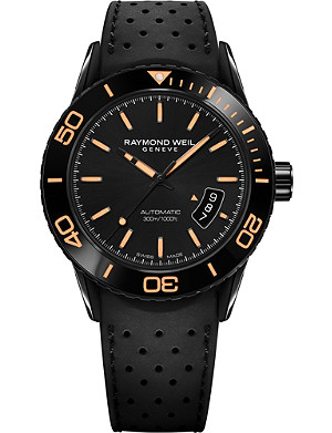 RAYMOND WEIL 2760SB220001 Freelancer Diver automatic rubber strap watch