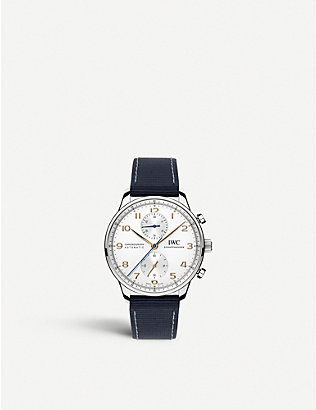IWC SCHAFFHAUSEN: IW371445 Portugieser calfskin-leather watch
