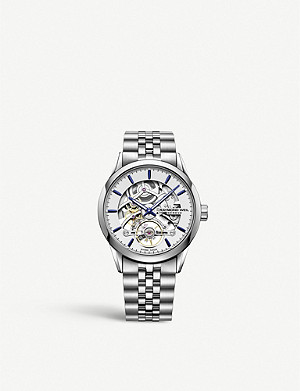 RAYMOND WEIL 2785.ST6.5001 Freelancer stainless steel skeleton-dial watch