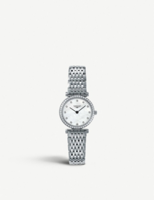 LONGINES 284066 La grande classique stainless steel and diamond watch