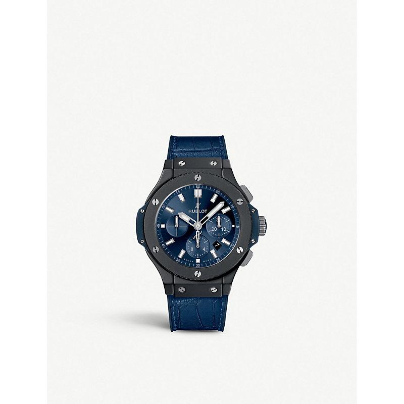 HUBLOT 301.Ci.7170.Lr Big Bang Ceramic And Crocodile-Embossed Leather Chronograph Watch