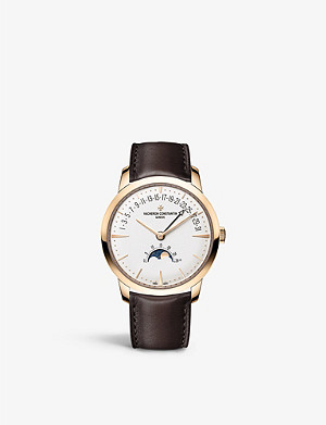 VACHERON CONSTANTIN 4010U/000R-B329 Patrimony 18ct rose gold and alligator leather Moon Phase and Retrograde Date watch