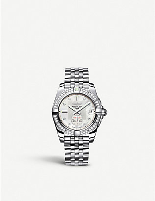 BREITLING: Galactic 32 diamond and stainless steel watch