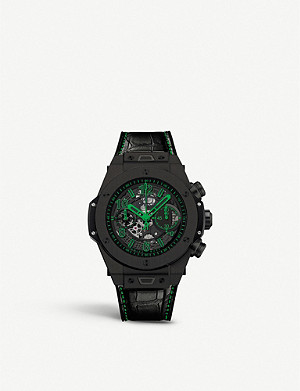 HUBLOT 411.ci.1190.lr.abg14 Big Bang Unico ceramic and crocodile leather watch