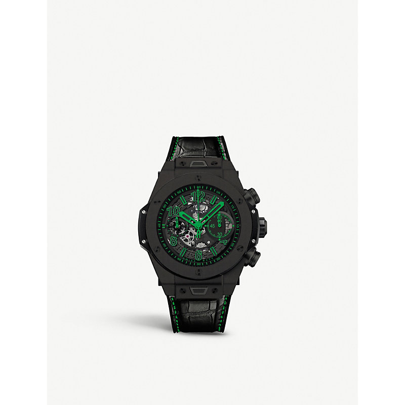 HUBLOT 411.Ci.1190.Lr.Abg14 Big Bang Unico Ceramic And Crocodile Leather Watch