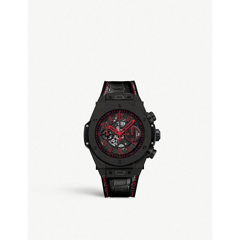 HUBLOT 411.Ci.1190.Lr.Abr14 Big Bang Unico Ceramic And Leather Chronograph Watch