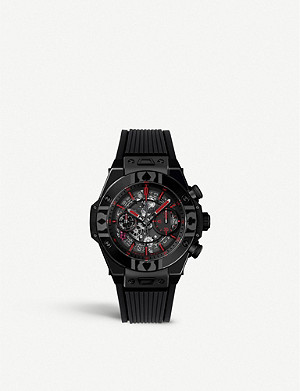 HUBLOT 411.CX.1113.LR.WPT17 Big Bang UNICO World Poker Tour ceramic and alligator-leather watch