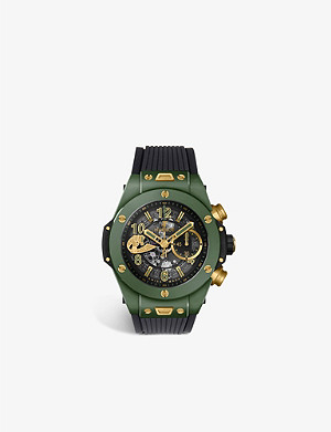 HUBLOT 411.GX.1189.LR.WBC19 Big Bang ceramic and alligator leather automatic watch