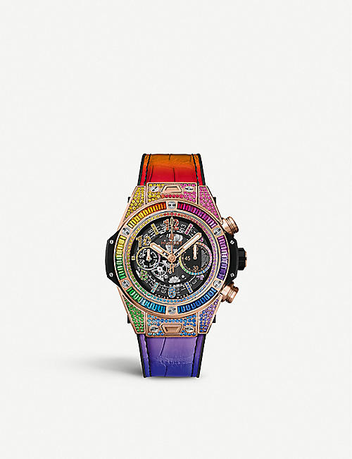 HUBLOT 411.OX.9910.LR.0999 Big Bang Unico Rainbow King Gold watch