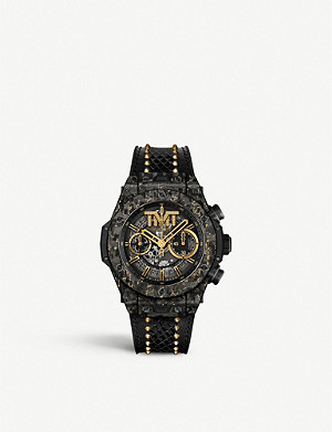 HUBLOT 411.QX.1180.PR.TMT18 Big Bang Unico TMT 18ct gold, carbon fibre and leather watch