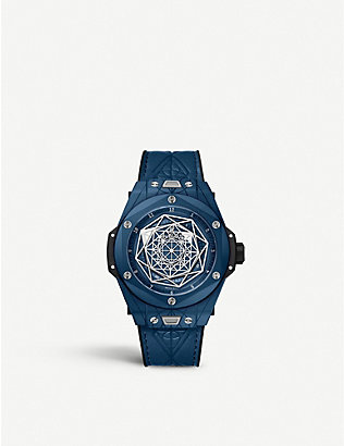 HUBLOT: 415.EX.7179.VR.MXM19 Big Bang Sang Bleu ceramic watch