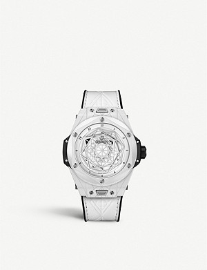 HUBLOT 415.HX.2027.VR.MXM19 Big Bang Unico Sang Bleu ceramic watch
