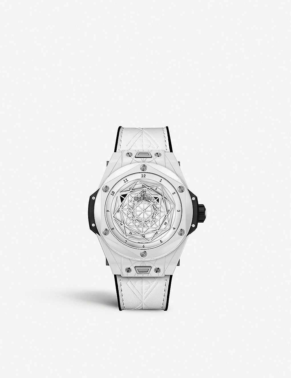 HUBLOT: 415.HX.2027.VR.MXM19 Big Bang Unico Sang Bleu ceramic watch
