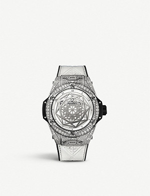 HUBLOT Big Bang titanium and diamond watch