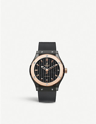 HUBLOT: 542.CO.1780.RX Classic Fusion ceramic and rubber watch