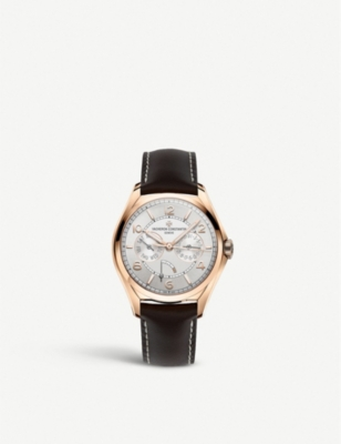 VACHERON CONSTANTIN 4400E/000R-B436 Fiftysix Day-Date 18ct rose gold and leather automatic watch