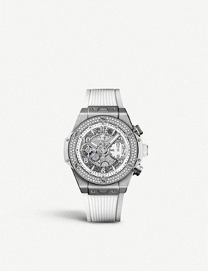 HUBLOT 441.NE.2010.RW.1104 Big Bang UNICO titanium and diamond watch