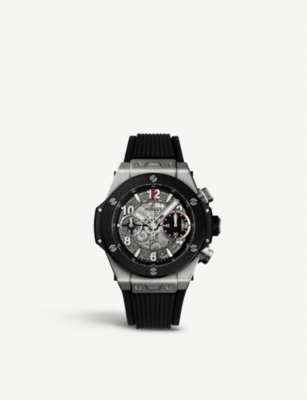 HUBLOT 441.NM.1170.RX Big Bang Unico titanium, ceramic and rubber strap watch