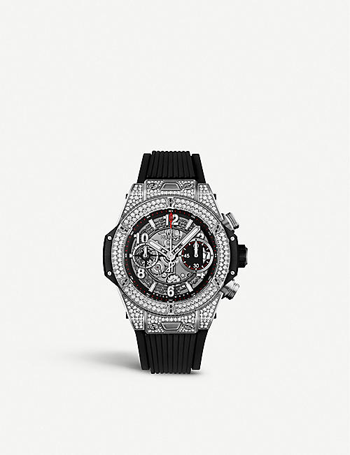 0387d278236 HUBLOT 441.NX.1170.RX.1704 Big Bang UNICO titanium and diamond