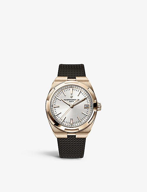 VACHERON CONSTANTIN: 4500V/000R-B127 Overseas 18ct rose-gold and rubber self-winding watch