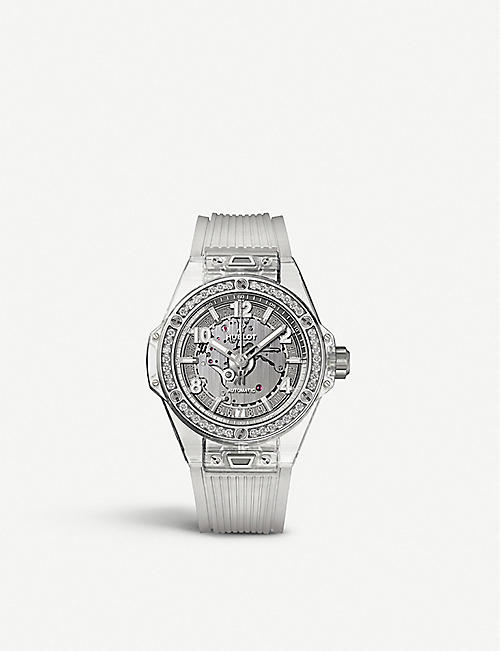 HUBLOT Big Bang sapphire crystal and diamond watch