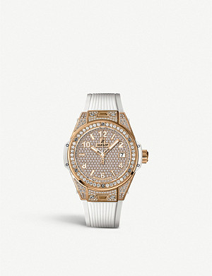 HUBLOT 465.OE 9010.RW.1604 Big Bang One Click 18K king gold, diamond and rubber watch