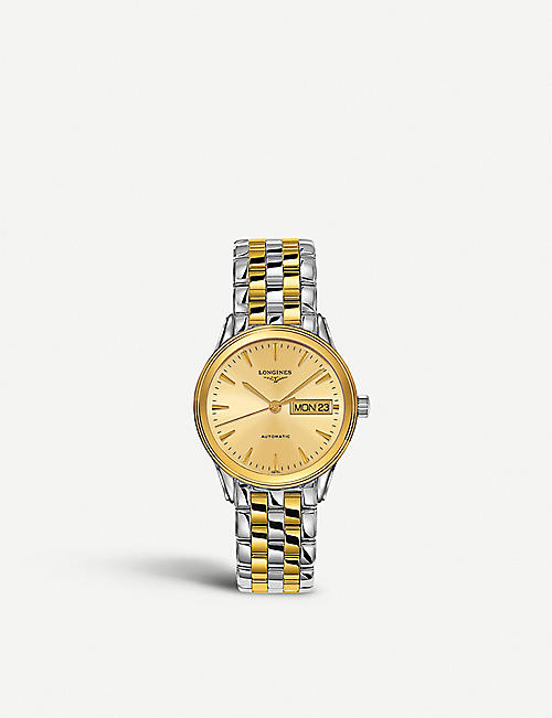 LONGINES 471589 Flagship stainless steel and gold pvd watch
