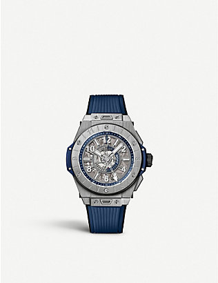 HUBLOT: 471.NX.7112.RX Big Bang Unico GMT Titanium watch