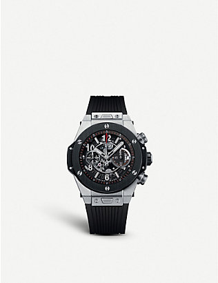 HUBLOT: 411.nm.1170.rx big bang unico titanium ceramic watch