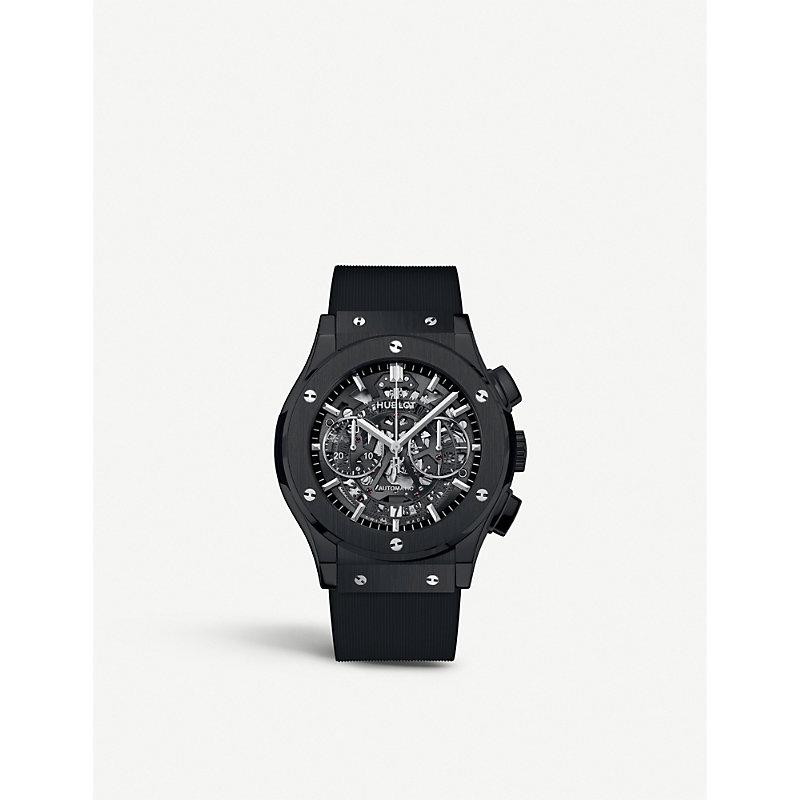 HUBLOT 525.Cm.0170.Rx Classic Aerofusion Ceramic Watch in Black