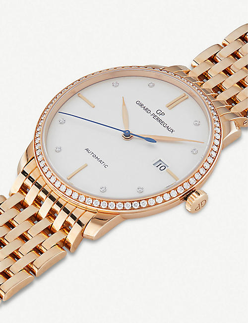 GIRARD-PERREGAUX 49525D52A1A1-52A 1966 rose-gold and diamond watch