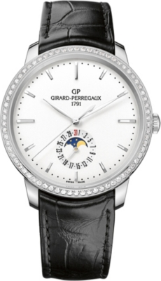 GIRARD-PERREGAUX 49545D11A131-BB60 1966 stainless steel and alligator leather watch