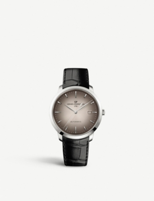 GIRARD-PERREGAUX 1966 stainless steel and leather watch