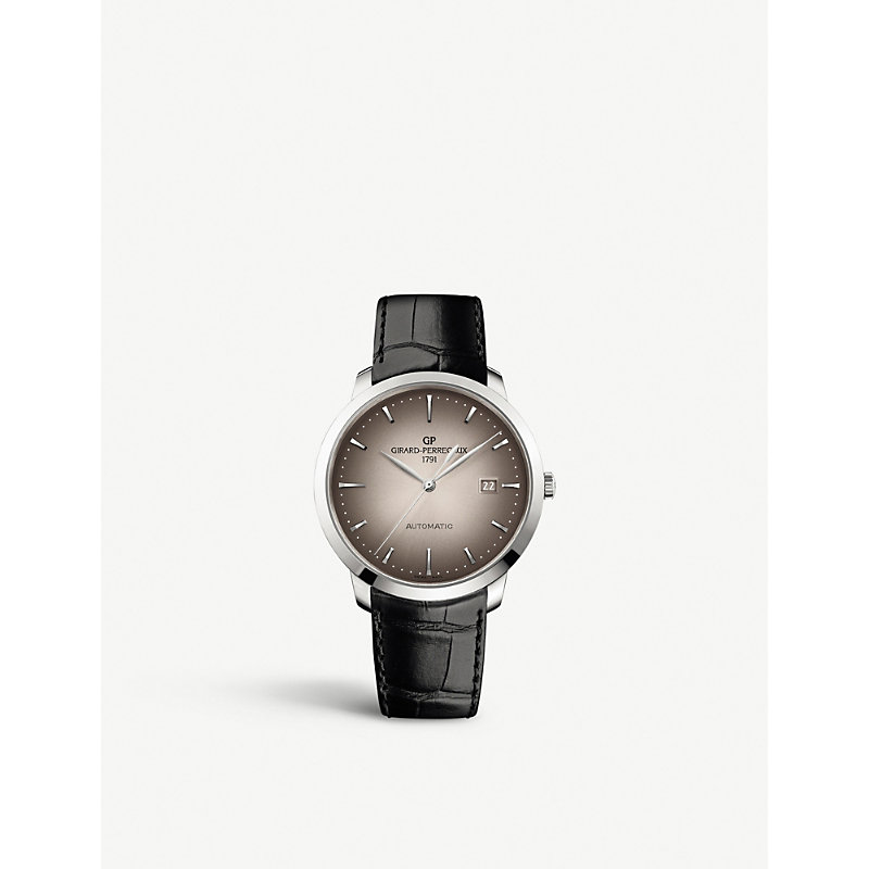 GIRARD-PERREGAUX | 1966 Stainless Steel And Leather Watch | Goxip
