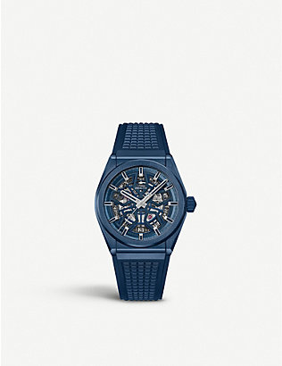 ZENITH: Defy Classic Range Rover brushed titanium and rubber watch
