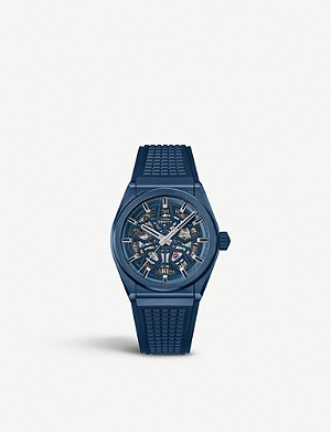 ZENITH Defy Classic Range Rover brushed titanium and rubber watch