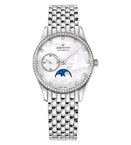 Zenith 16.2310.692.81.M2310 Elite moonphase stainless steel watch