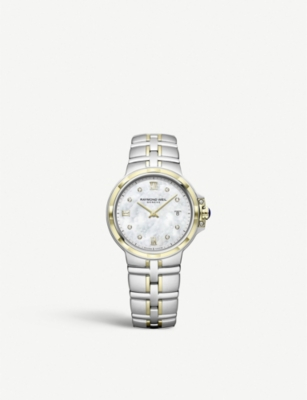 RAYMOND WEIL 5180-STP-00995 Parsifal stainless steel, yellow PVD, mother-of-pearl and diamond quartz watch