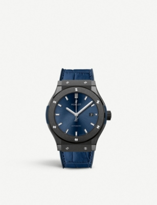 HUBLOT 521.CM.7170.LR Classic Fusion Ceramic Blue chronograph watch