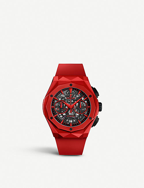 HUBLOT 525.OX.0180.RX.1804.ORL19 Classic Fusion Aerofusion Chronograph Orlinski ceramic and rubber watch