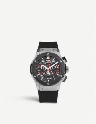 HUBLOT 525.NM.0137.LR.SLF17 Classic Fusion ceramic, titanium and alligator watch