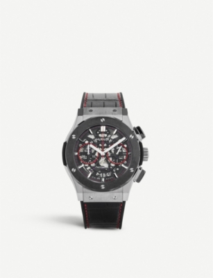 HUBLOT 525NX0137LRSIS15 titanium and crocodile leather watch