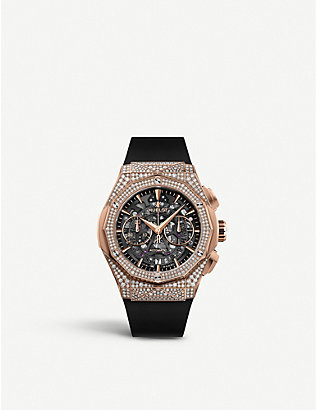 HUBLOT: 525.OX.0180.RX.1704.ORL19 Classic Fusion Aerofusion Chronograph Orlinski 18ct King-gold and diamond watch