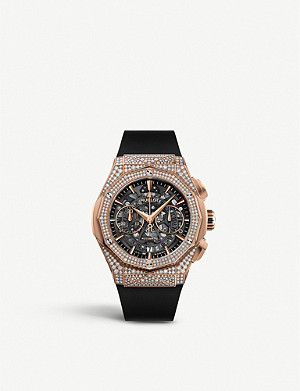 HUBLOT 525.OX.0180.RX.1704.ORL19 Classic Fusion Aerofusion Chronograph Orlinski 18ct King-gold and diamond watch