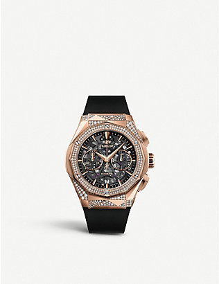 HUBLOT: 525.OX.0180.RX.1804.ORL19 Classic Fusion Aerofusion Chronograph Orlinski 18ct King-gold and diamond watch