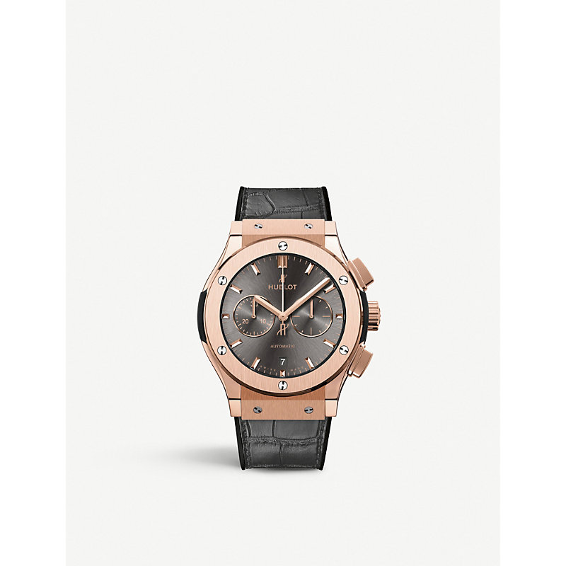 HUBLOT 541.Ox.7080.Lr Classic Fusion 18Ct Rose Gold And Leather Watch