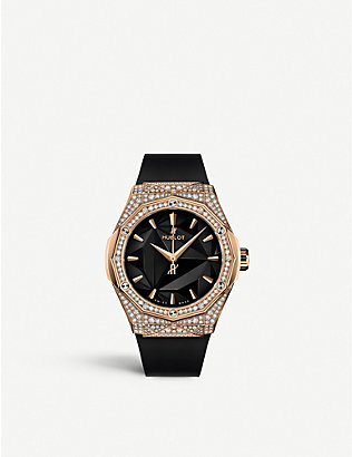 HUBLOT: 550.OS.1800.RX.1604.ORL19 Orlinksi Classic Fusion 18ct King-gold and diamond watch